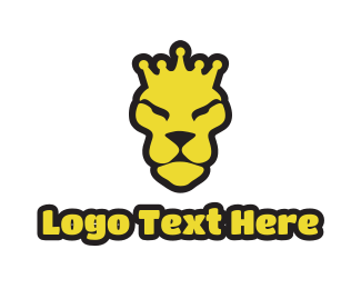"""""""Yellow Lion Crown"""" by LogoBrainstorm"""