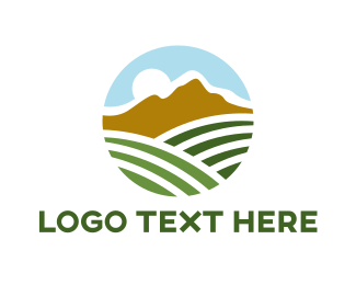Crop - Mountain Field Agriculture  logo design