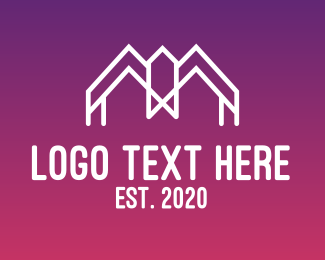 Initial - Modern M House  logo design