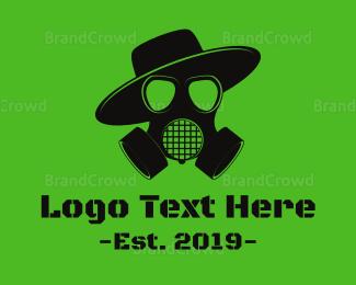 Burning Man - Skull Gas Mask logo design