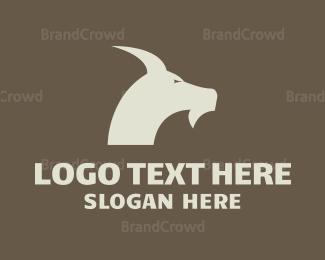 Lamb - Blue Goat logo design