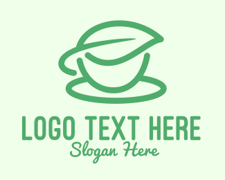 Tea Cup - Green Herbal Tea Cup logo design