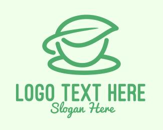 Tea - Green Herbal Tea Cup logo design