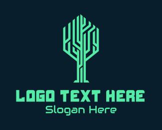 Biotechnology - Tree Circuit Tech logo design