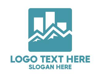 Blue Statistic App Logo