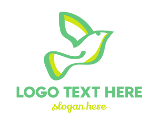 Green Wings - Green Dove logo design