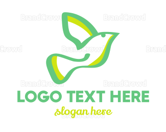 Aviary - Green Dove logo design