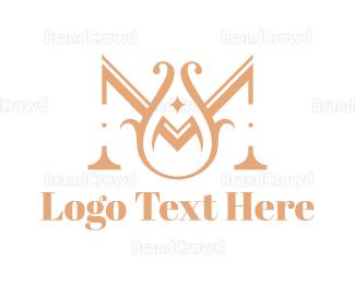 1960s - Elegant Letter M logo design