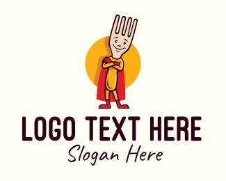 Superhero Fork  Logo