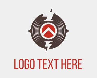 Vinyl - Thunder Circle logo design
