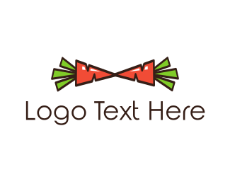 Food Store - Carrot Bow Tie logo design