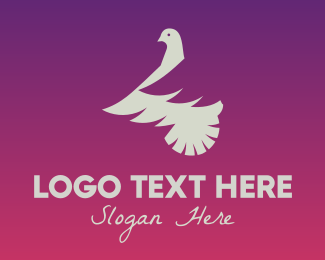 Pigeon - White Dove logo design