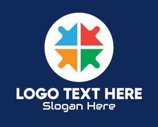 Windows - Multicolor Arrow Cursors logo design