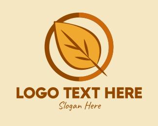 Dry Leaf - Natural Autumn Leaf logo design