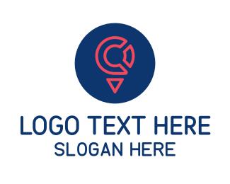 Place - Locator Letter C logo design