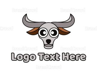 Buffalo - Grey Buffalo Head logo design