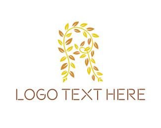 Brand - Leaf Letter R logo design