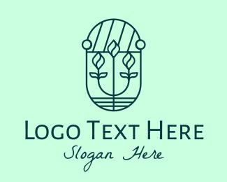 Flower Market - Minimalist Flower Shop logo design