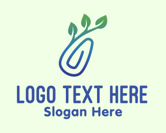 Environmentalist - Gradient Eco Paper Clip logo design