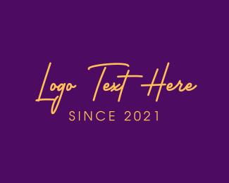 Word - Golden Premium Text logo design