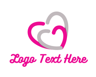 Caring - Love Hearts logo design