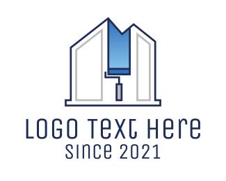 Renovation - House Paint Interior Renovation logo design