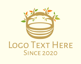 Picnic - Tree Basket logo design