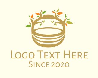 Basket - Tree Basket logo design