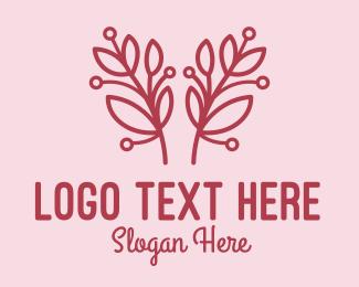 Flower Shop - Pink Flower Shop  logo design