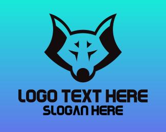 Fox - Black Wolf logo design