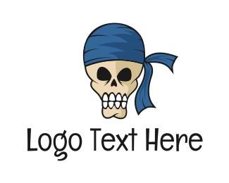 Cranium - Pirate Skull logo design