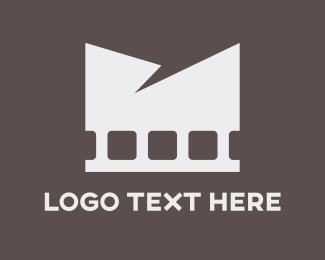 Reel - White Film logo design