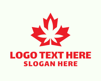 Ganja - Canadian Cannabis logo design