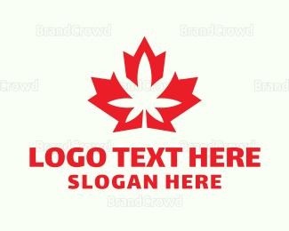 Canadian - Canadian Cannabis logo design