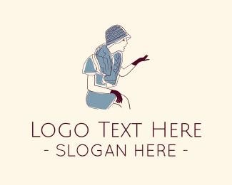 Boutique - Vintage Dress logo design