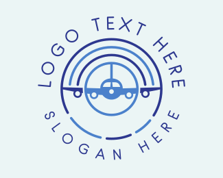 Jet Plane - Airplane Radar  logo design