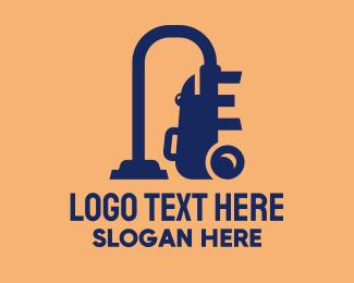 Disposal - Blue Vacuum Cleaner  logo design