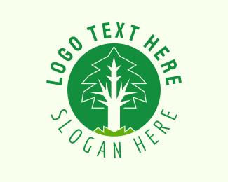 """""""Circle Tree Emblem """" by royallogo"""