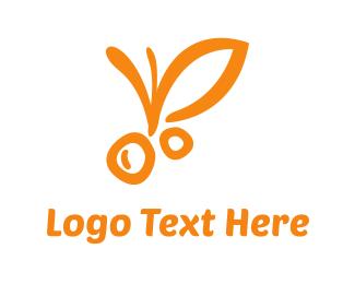 Berries - Orange Fruit logo design
