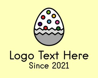 Candy - Multicolor Candy Egg logo design