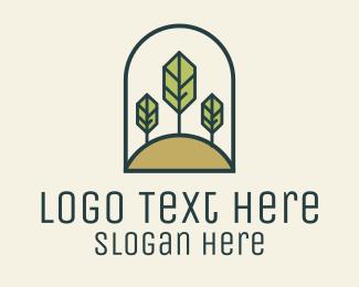 Produce - Monoline Tree Hill logo design