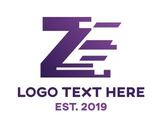4g - Digital Blue Z logo design