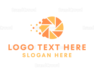 Photographer - Orange Shutter logo design