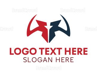 Cattle - Sharp Horns logo design
