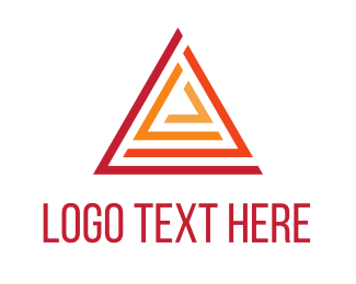 Generic - Red Abstract Triangle logo design