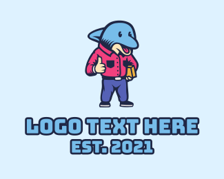 Boss - Dolphin Delivery Employee logo design