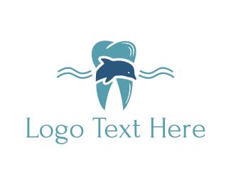 Dolphin - Marine Tooth logo design