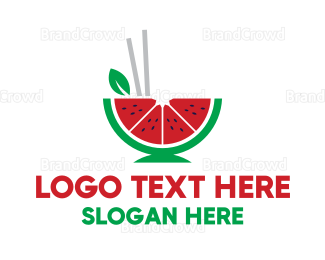 Dine - Watermelon Bistro logo design