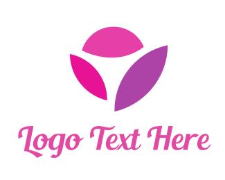 Nail - Pink Flower logo design
