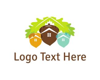 Cone - Acorn City  logo design